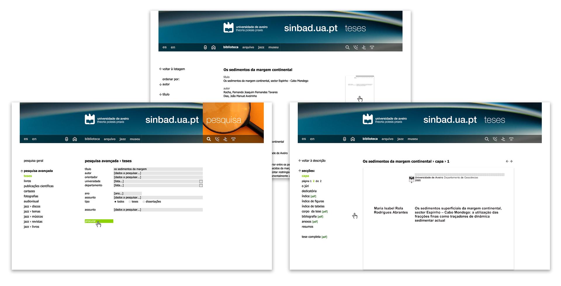 Miguel Jesus Portfolio - Website for Universidade de Aveiro