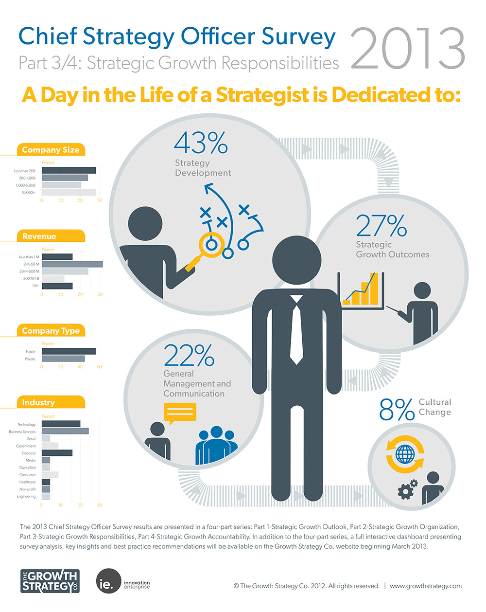 an infographic series based on a chief strategy officer survey conducted by the growth strategy company a dc based business strategy firm - Chief Strategy Officer Job Description