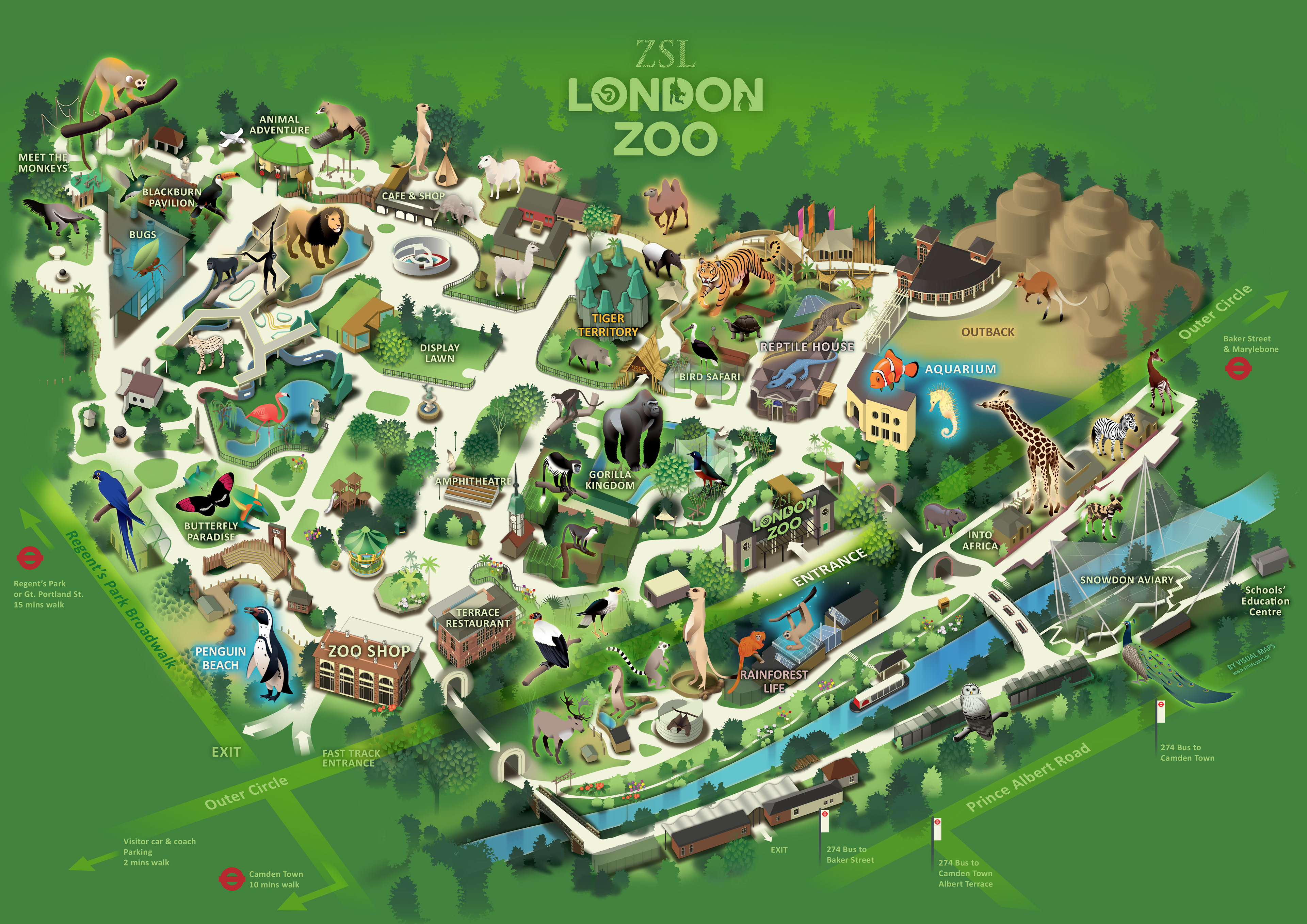 los angeles zoo map with London Zoo on Excalibur further London Zoo in addition Map Of Zsl Whipsnade Zoo likewise Ohio furthermore Aaa.