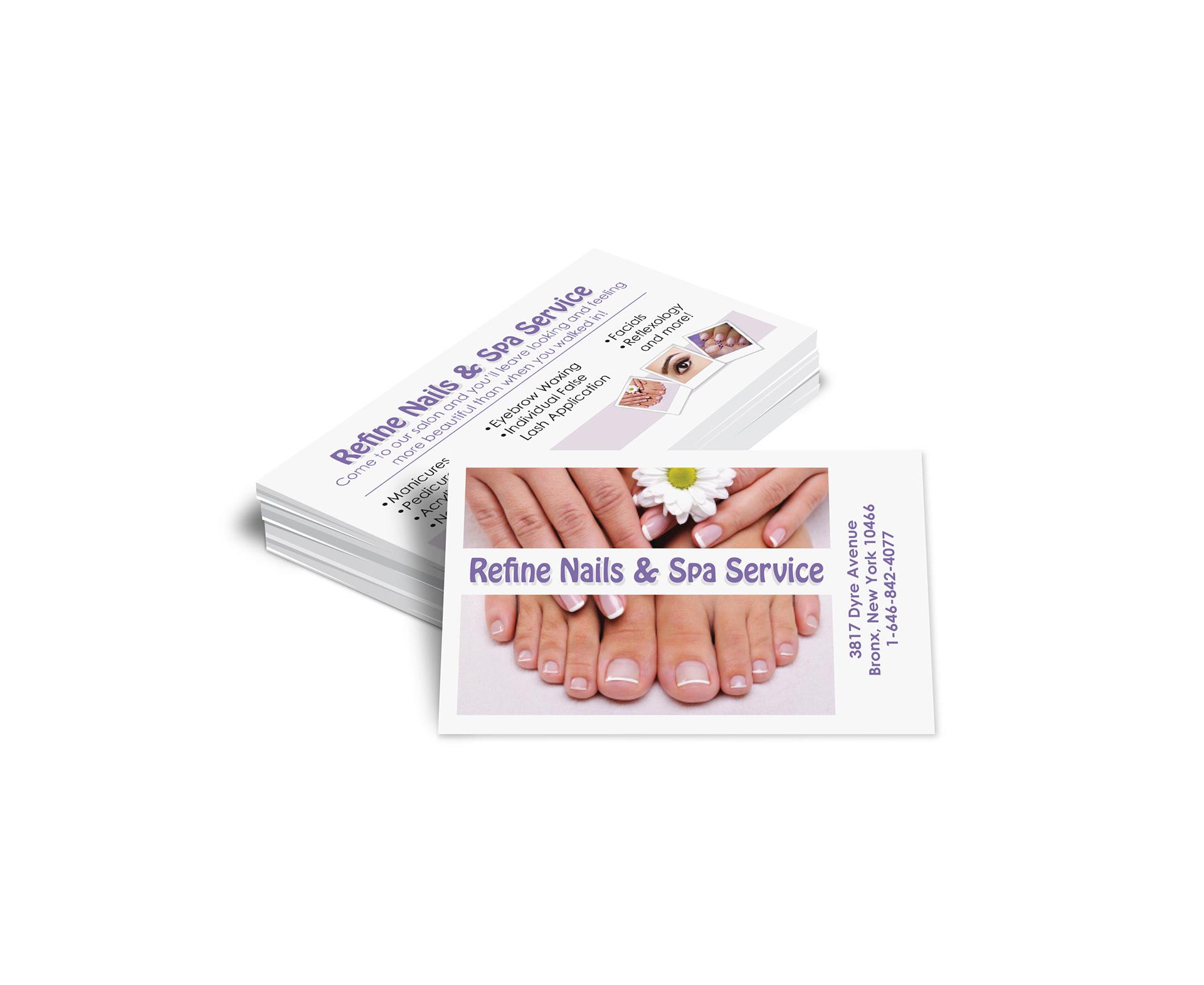 branded GRAPHICS - Refine Nails & Spa Service
