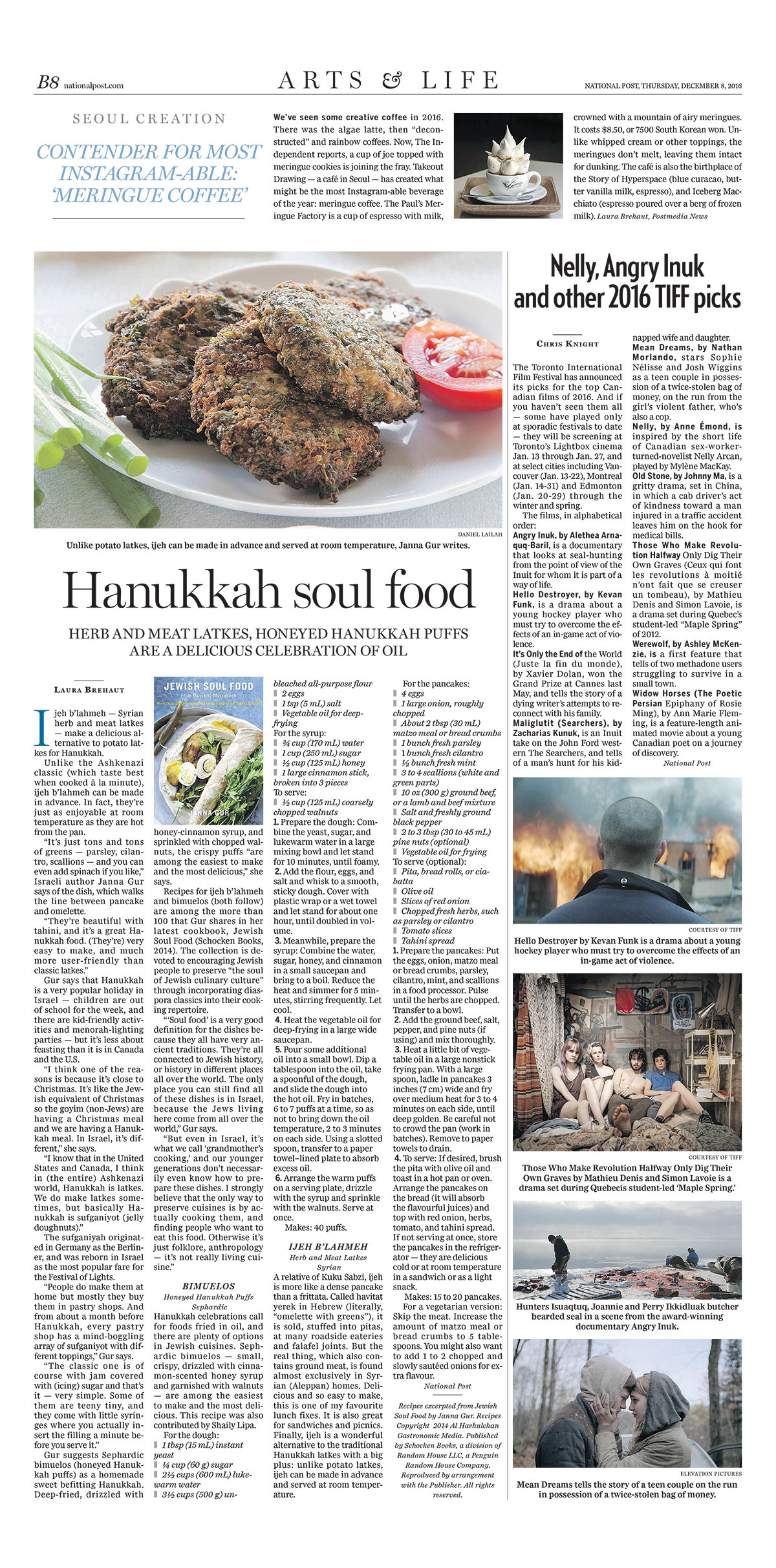 Laura Brehaut - 'Jewish Soul Food' for Hanukkah