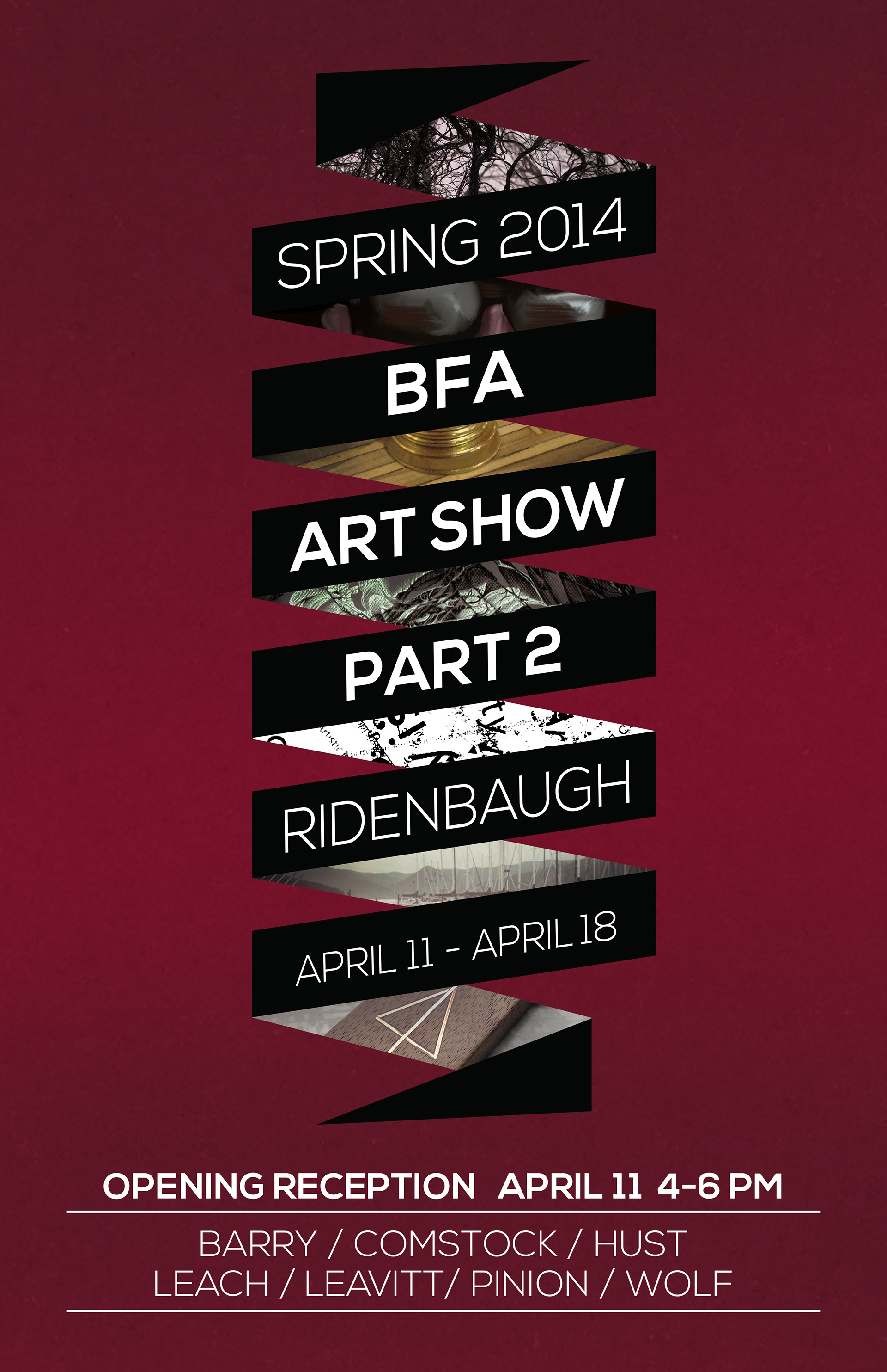 BFA Senior Show Poster Two Versions For Separate Shows