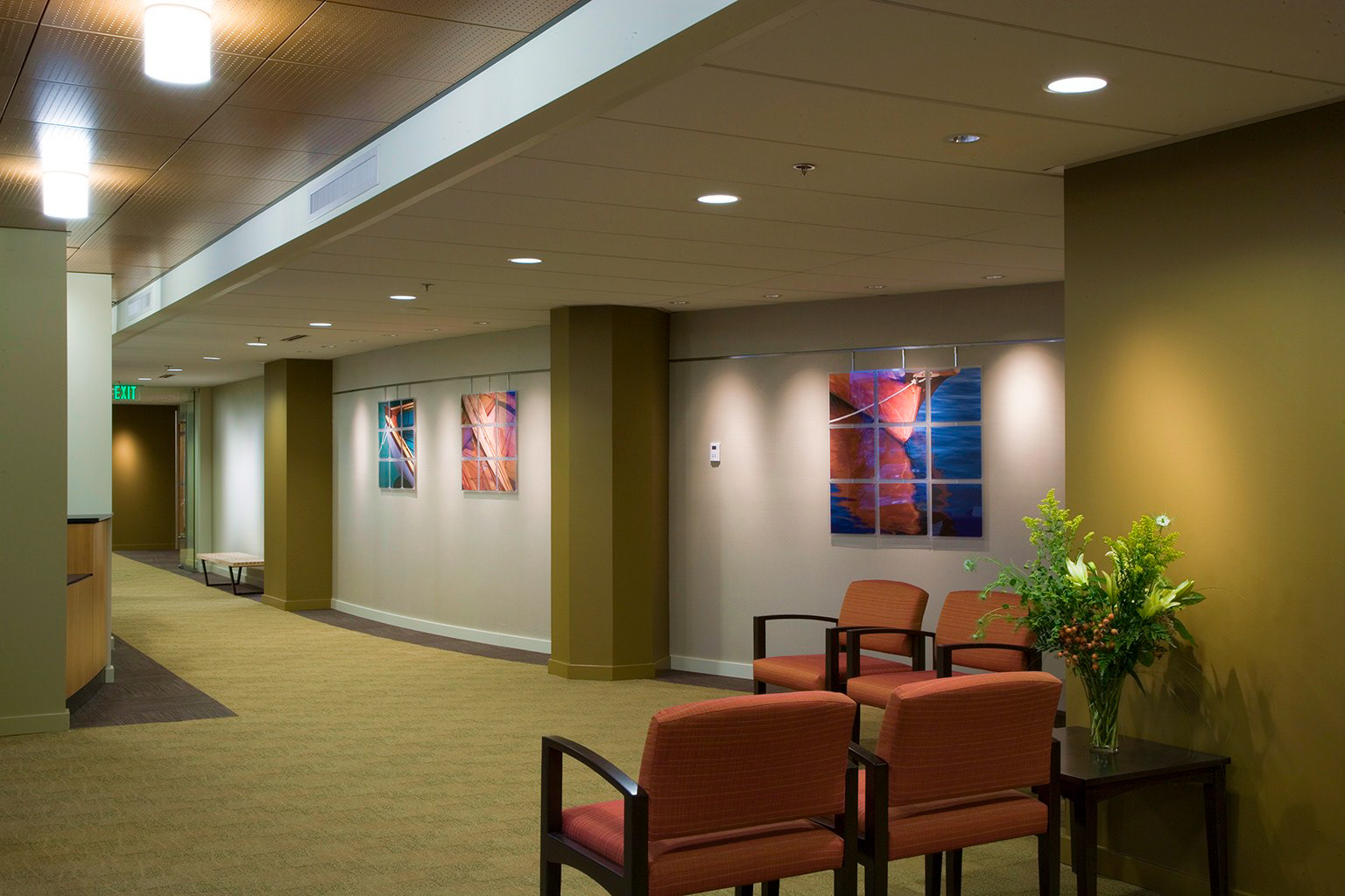 Katie hastings design llc the polyclinic family practice and dermatology for Dermatology clinic interior design