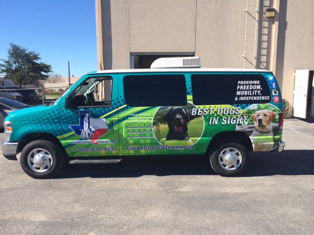 AvilaGraphix com - Vehicle Wrap - Guide Dogs of Texas