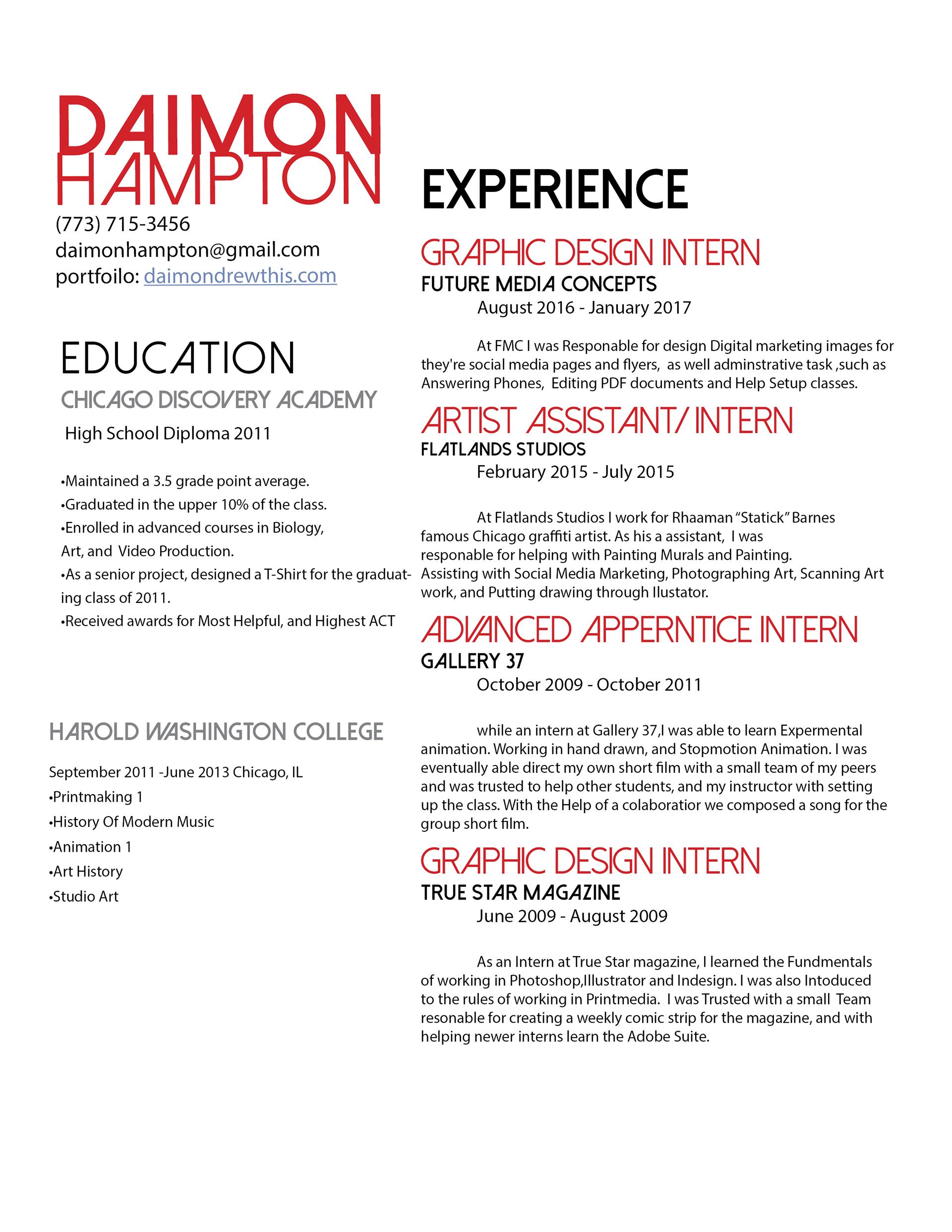 daimon hampton - About Me