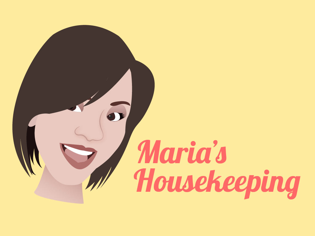 Jorge flores portfolio marias housekeeping i created a simple elegant and friendly design for her business cards and made an illustration from a personal picture for the character design magicingreecefo Gallery