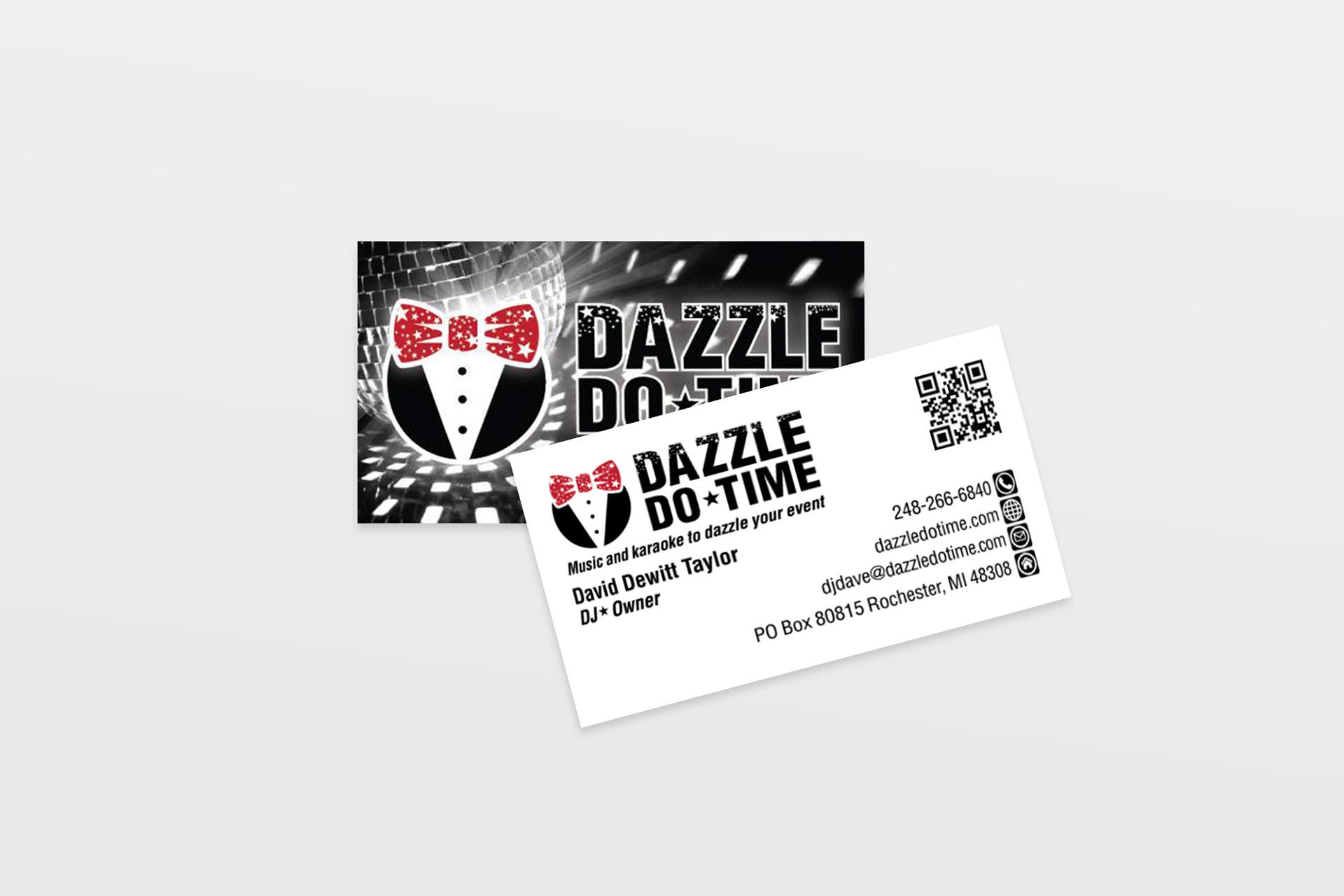 Lucky Cat Digital Media Dazzle Do Time Business Card Design