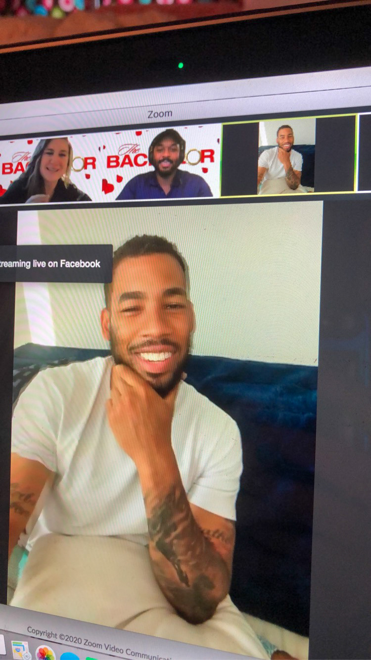 Sisters, Maggie and Erin Kaliszak doing a Zoom Q&A with Bachelor alum Mike Johnson on April 28th, 2020. Maggie Kaliszak  |  New Freedom, Pennsylvania