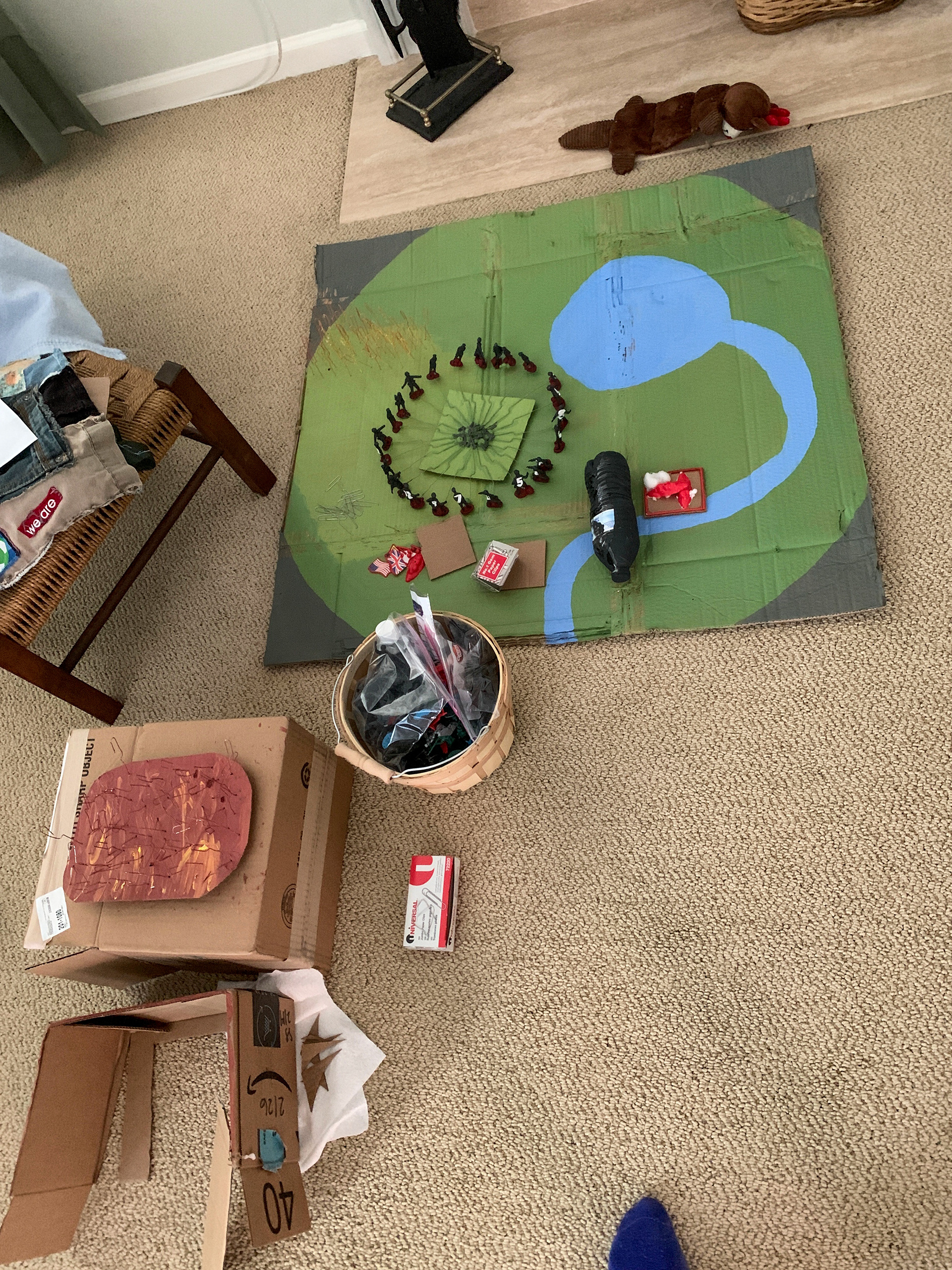 "Caitlin Dorsch created ""The 74th Hunger Games"" diorama for her final project for her Westover Dystopian Fiction Colloquium, April 28th, 2020. Caitlin Dorsch  