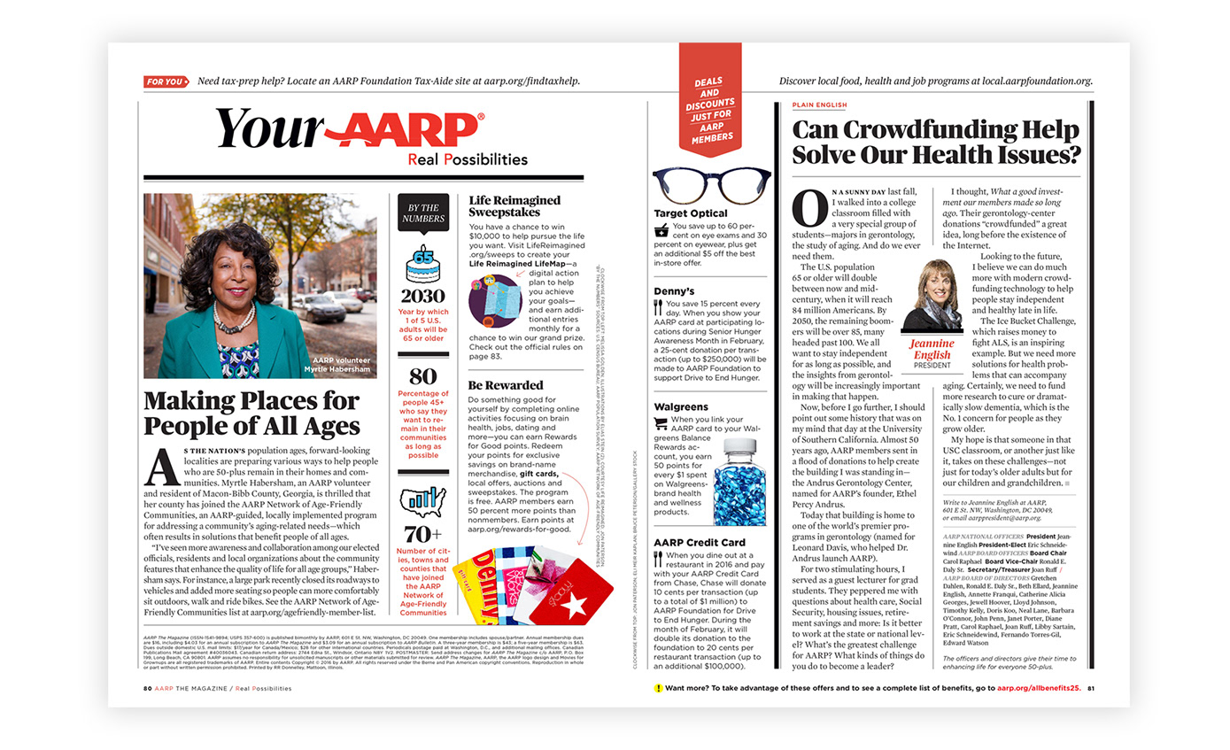 Genesis henriquez aarp the magazine i worked closely with the designers art directors and creative director to design print layouts conform print layouts to tablet dimensions build tablet solutioingenieria Gallery