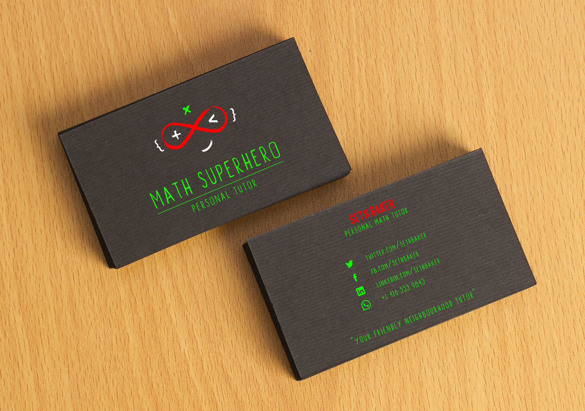 Mariospagolla math superhero your friendly neighbourhood tutor on the business card reminds a quote from the movie spiderman colourmoves