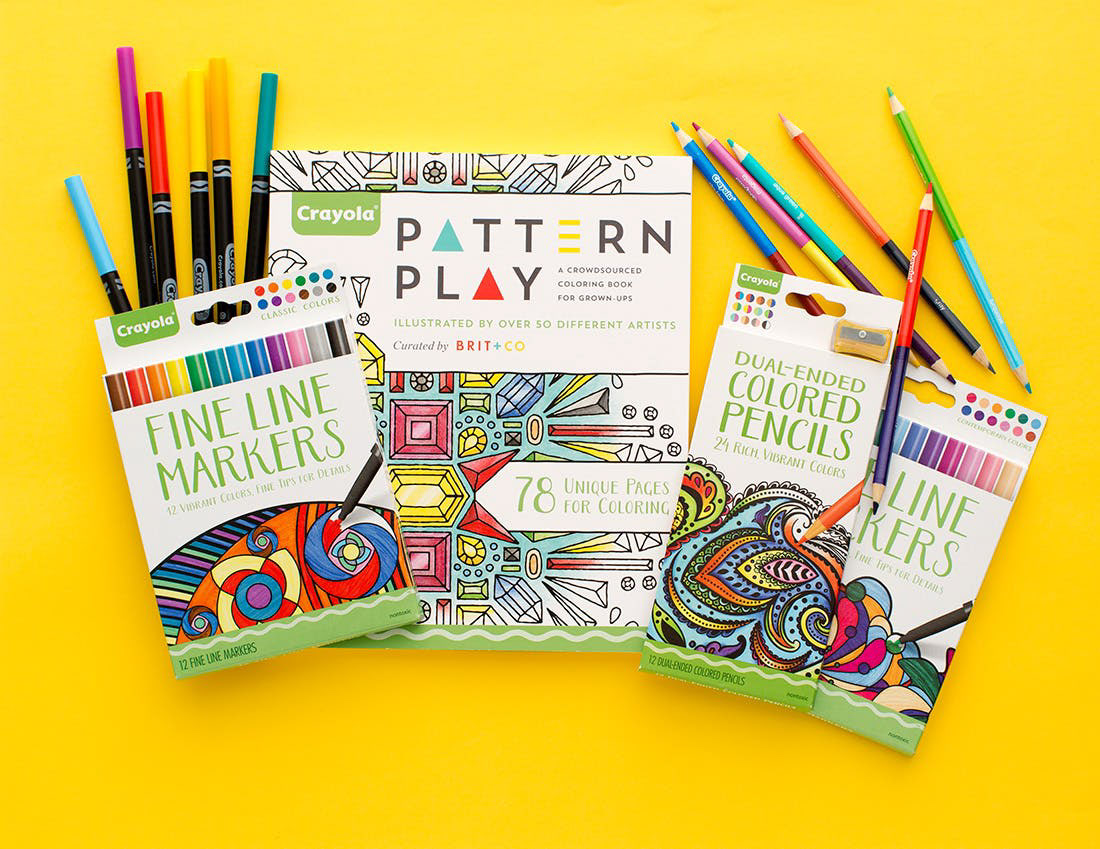 Jamie Mcniel Crayola Pattern Play Coloring Book For Adults