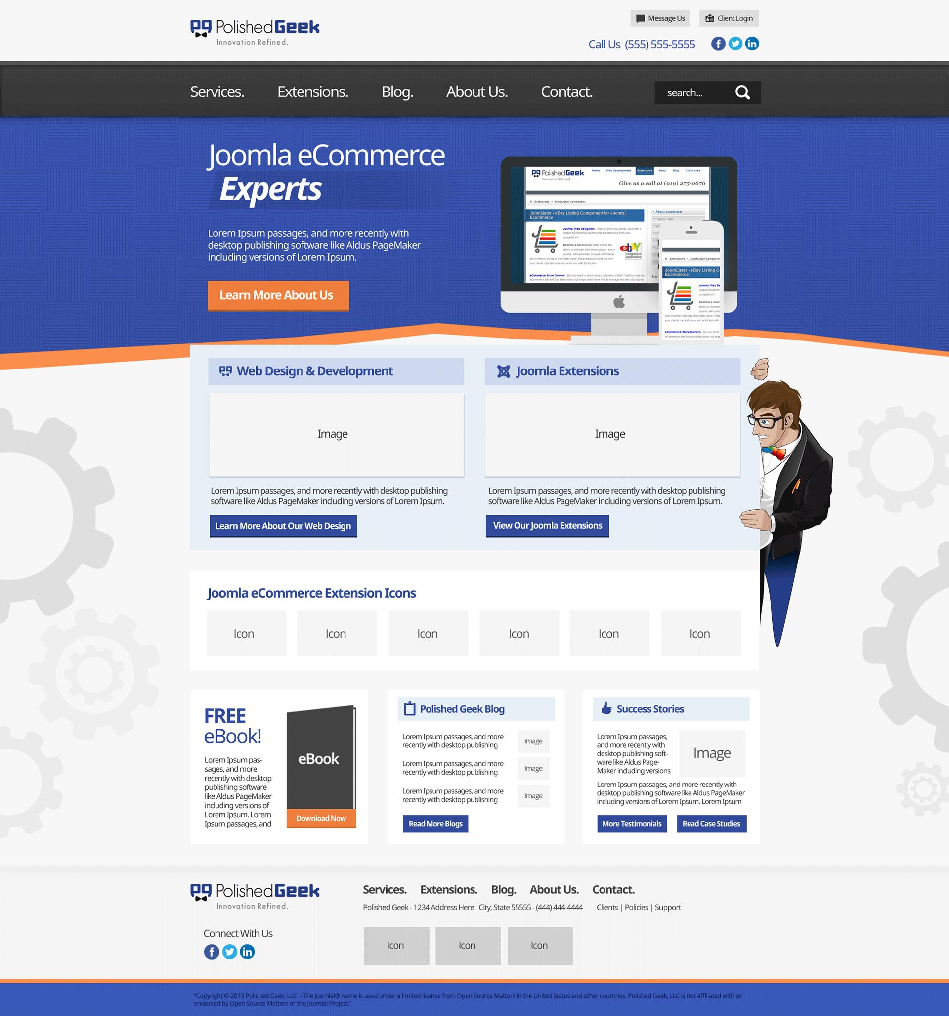Alex Gilgenbach Graphic Designer Polished Geek Website Redesign