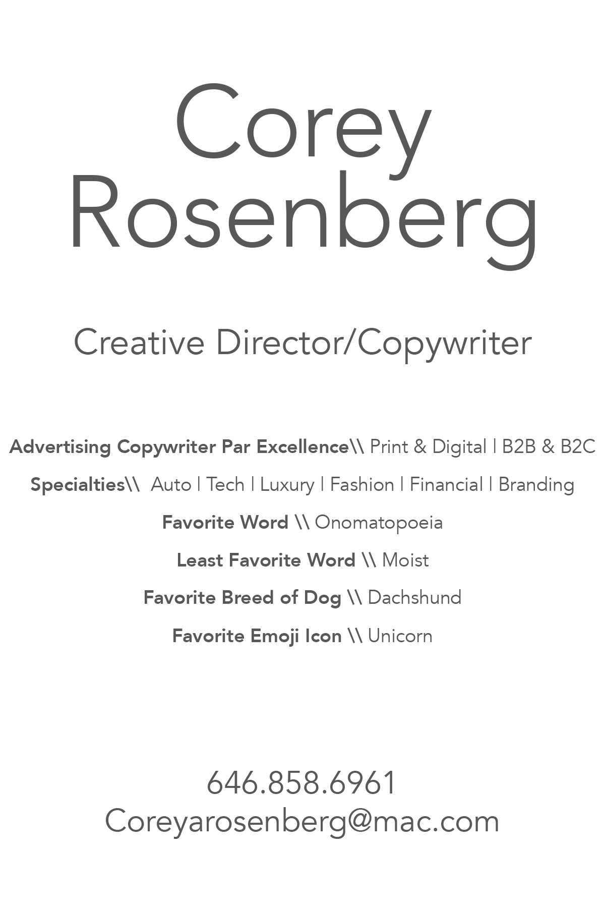 Corey Rosenberg