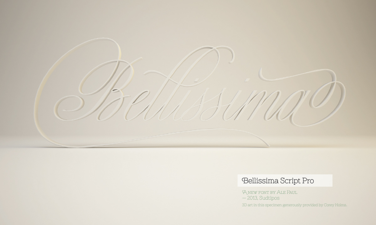 The works by Ale Paul - Bellissima Script