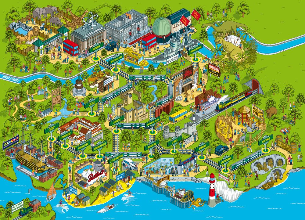 Rod Hunt / Illustration and Illustrated Maps - Map ...