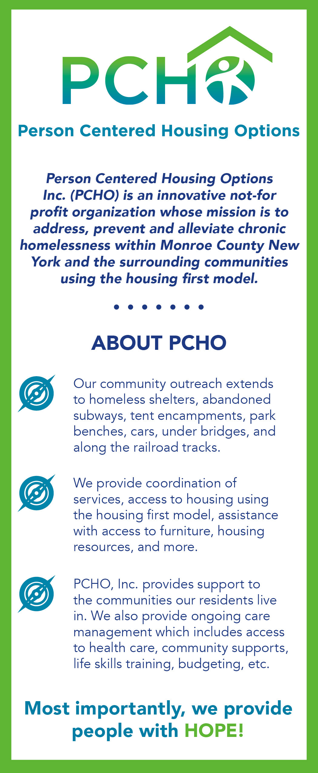 Kim Markell - Person-Centered Housing Options (PCHO)