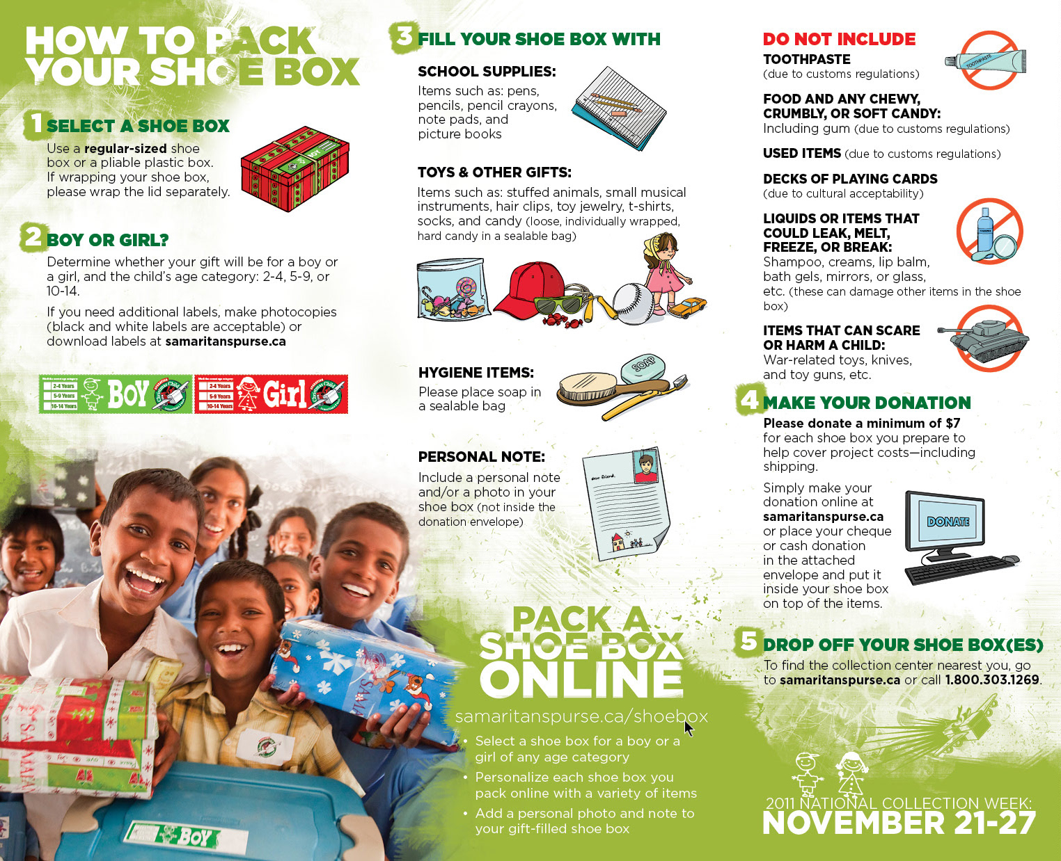 Brandon Wiebe - Operation Christmas Child 2011 HTPS Brochure