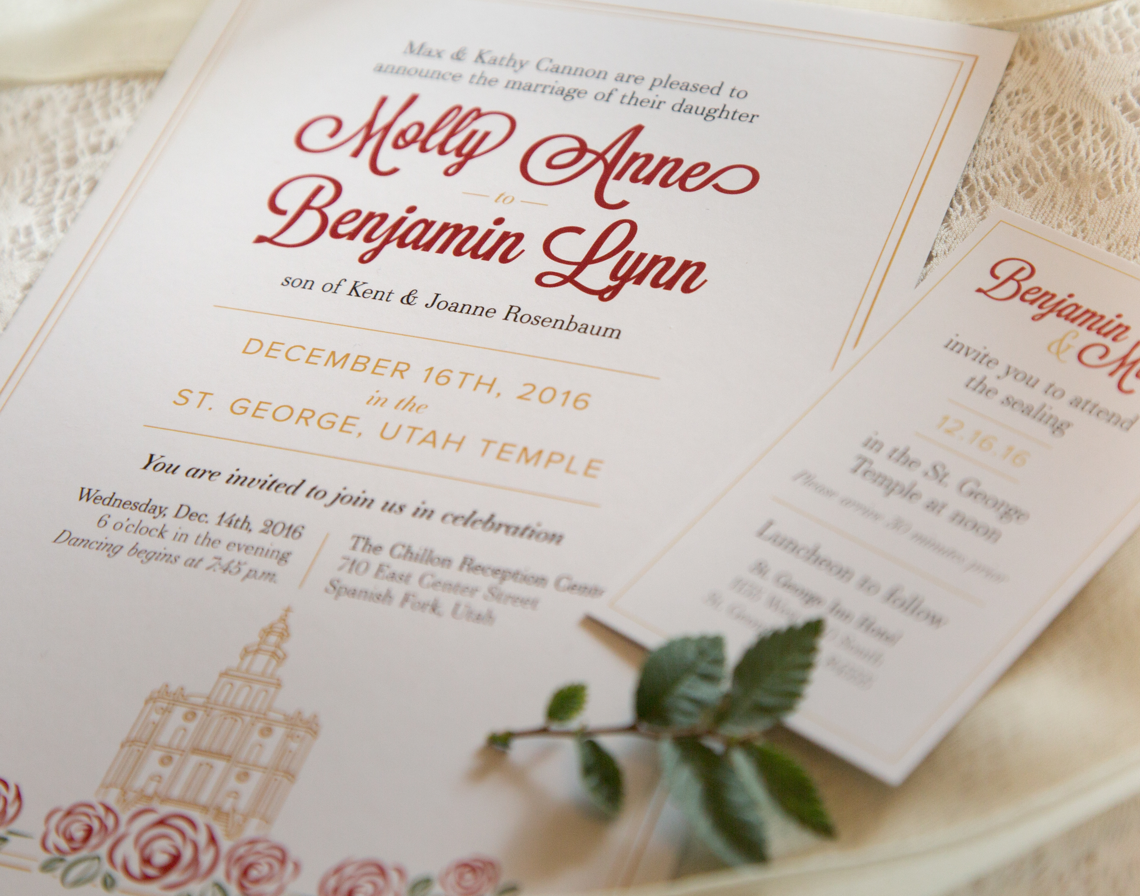 Kaylee dunn design temple roses wedding invitation pinacate middle school houses branding monicamarmolfo Images