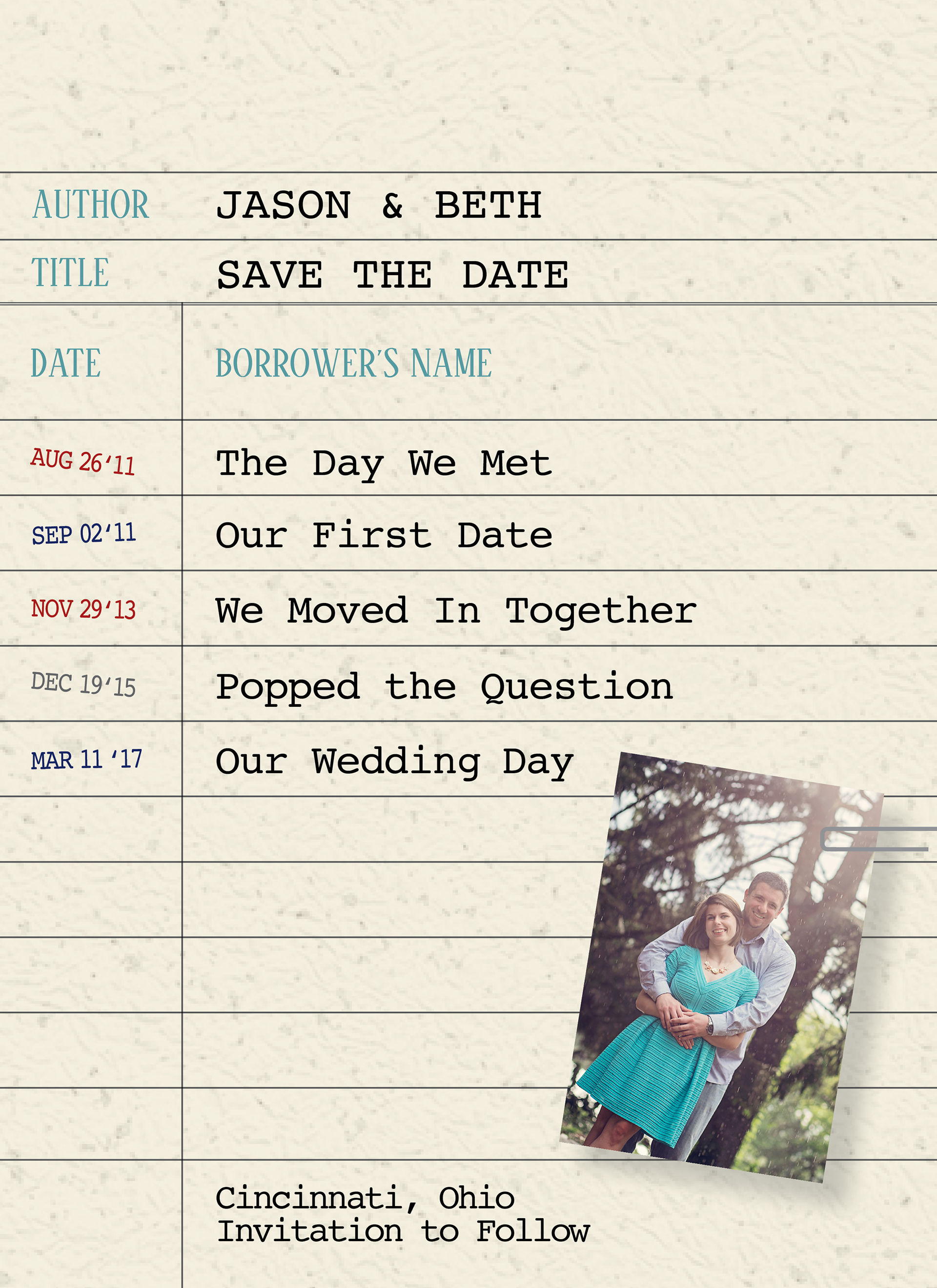 Sarah Blankenship - Wedding Invitations