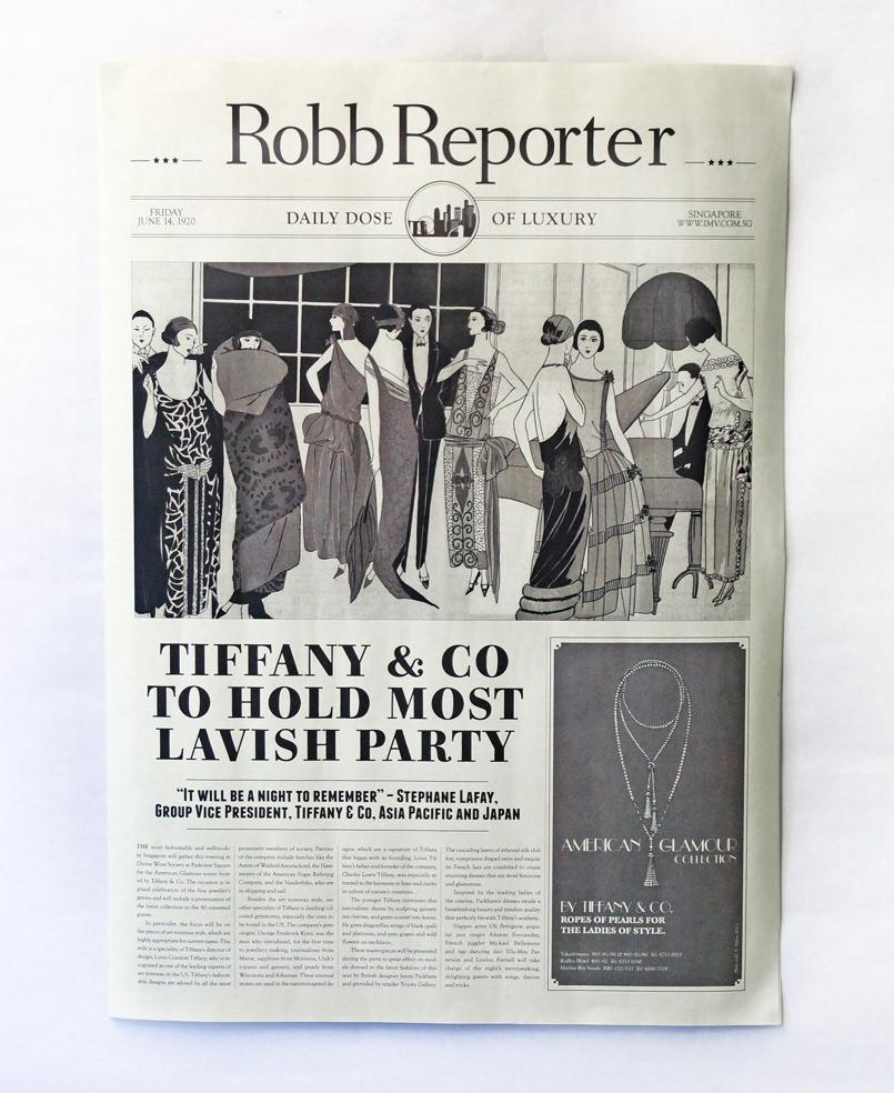 Unit One Studio Tiffany Co 1920 Newspaper