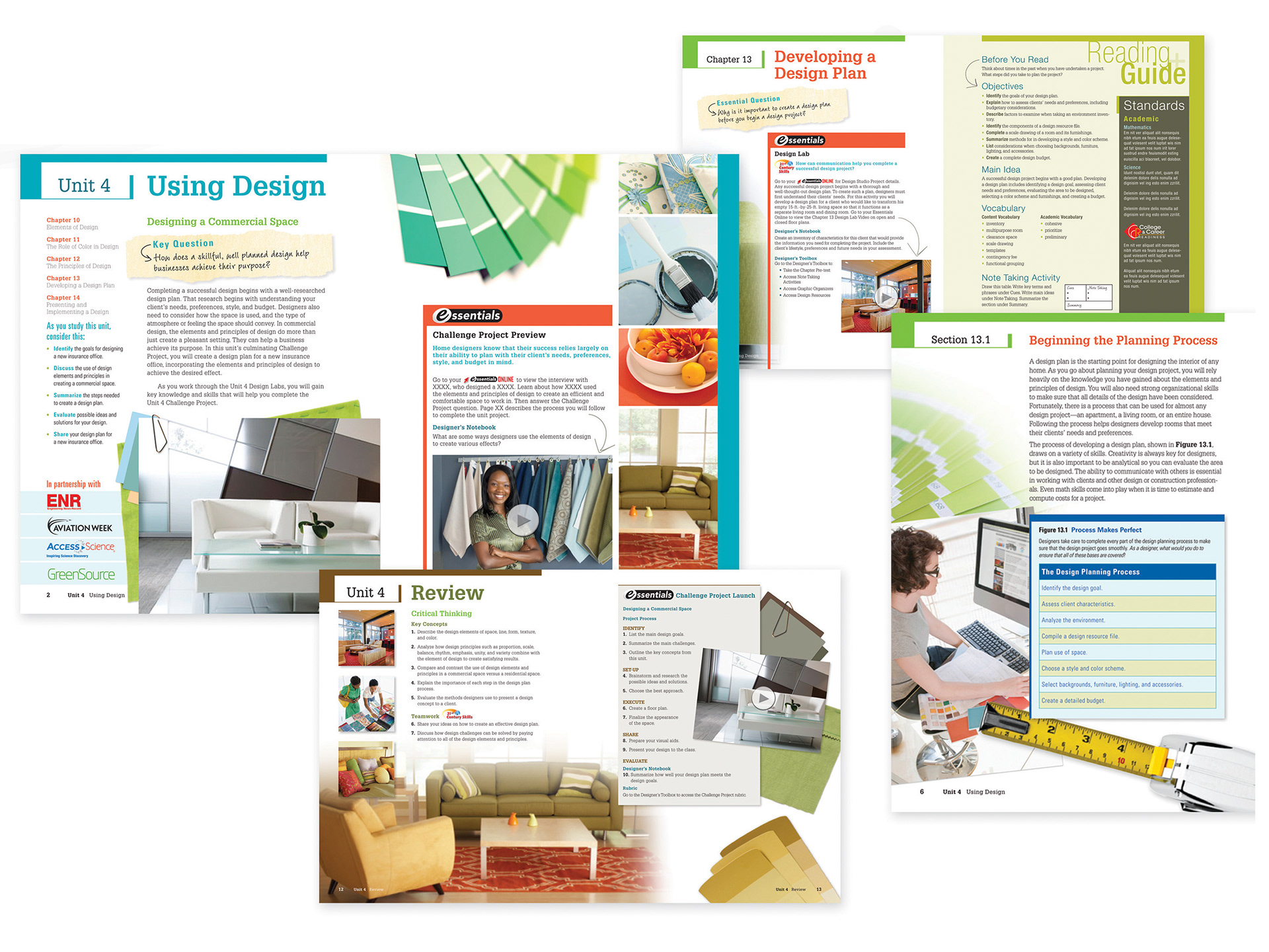 Interior Design Textbook Page Layout