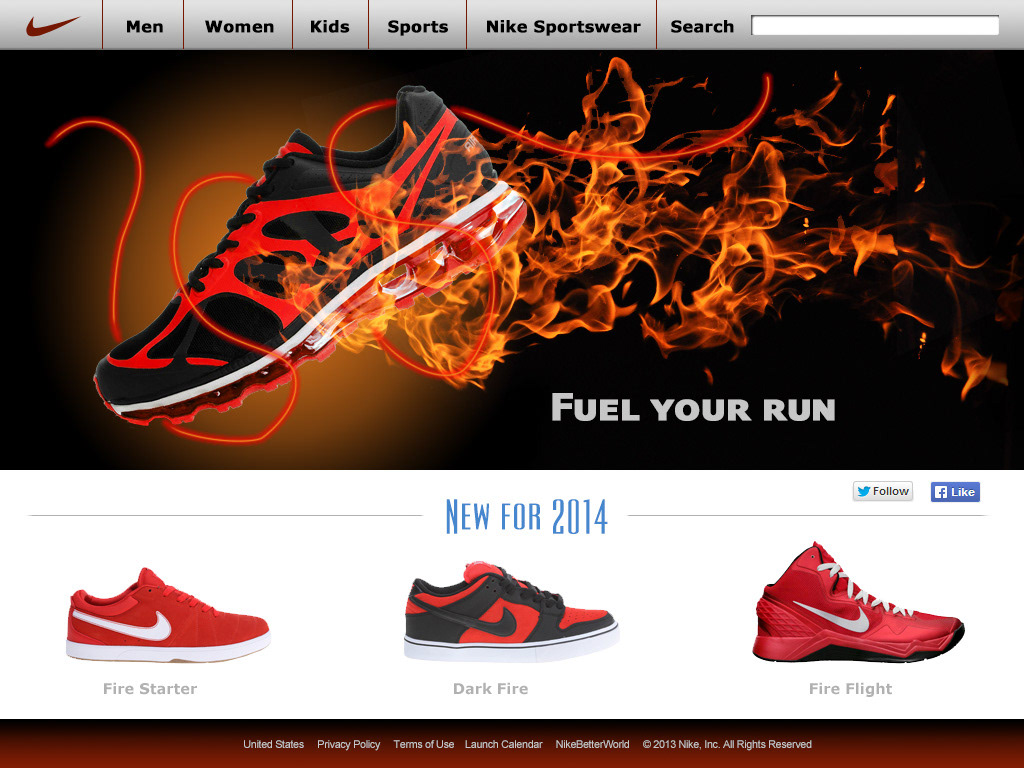 f2217889e215 Mark Peterson - Nike Website Mockup