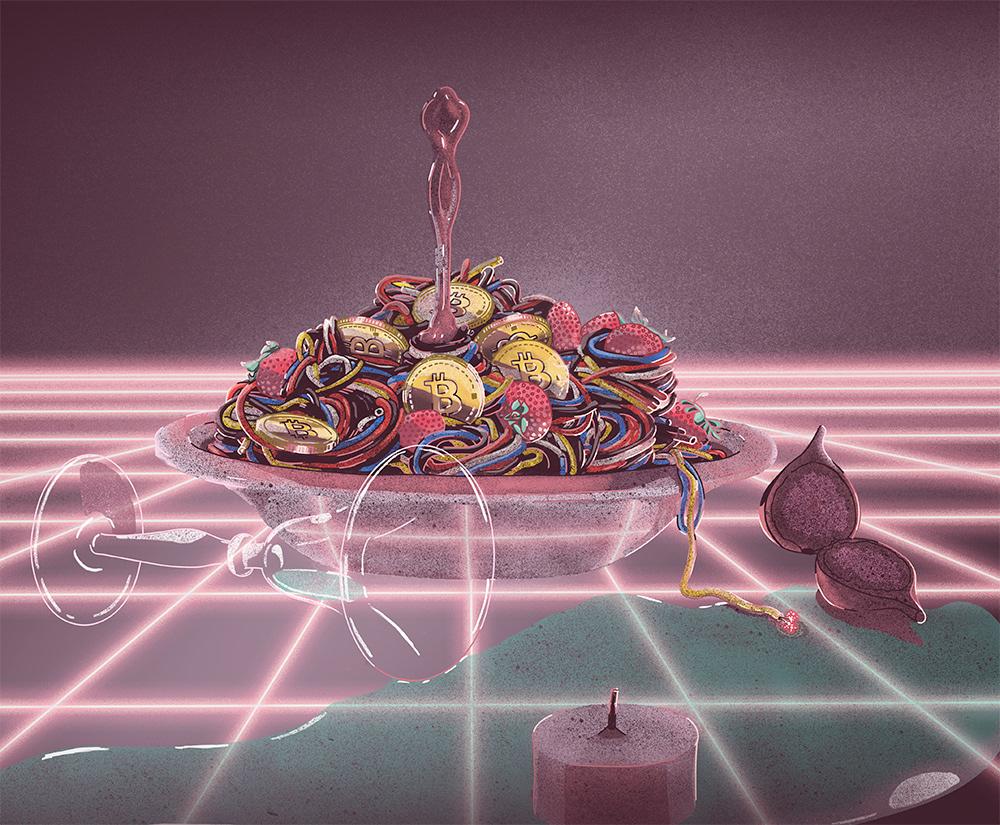 Julia Hita Illustrator - The Costs Of Cryptocurrency