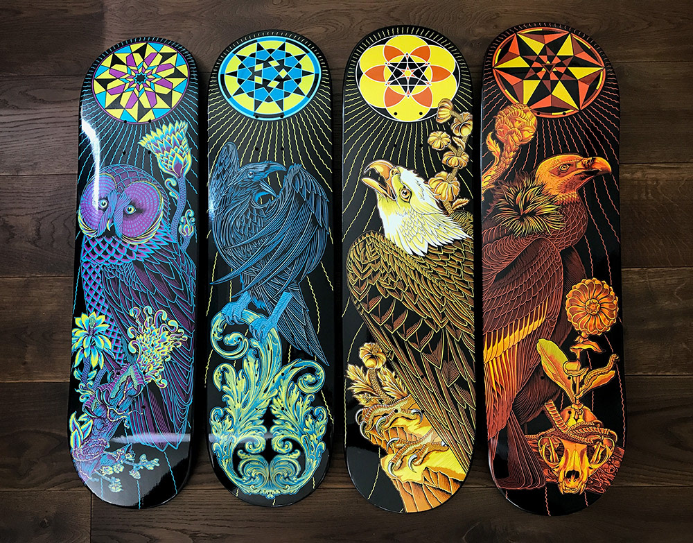 Official Palehorse Portfolio Techn 234 Skate Deck Series