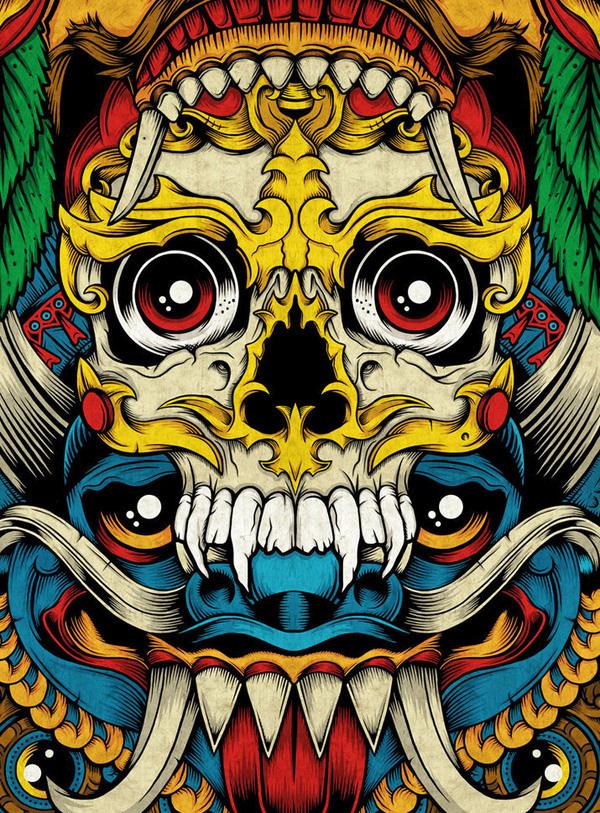 Official Palehorse Portfolio - Totem: 7-Skate Deck Artwork