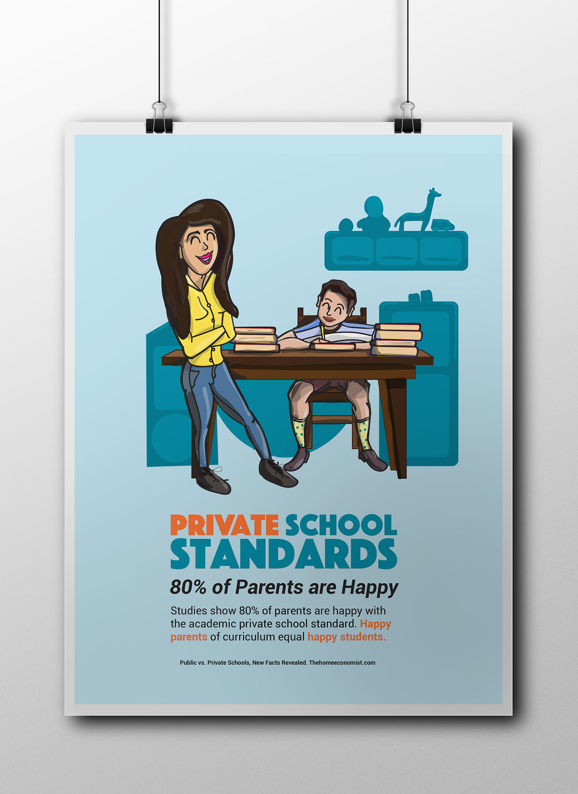 Poster design education - Design A Series Of Posters Promoting Positive Facts About Public And Private Schools For K 12 Education